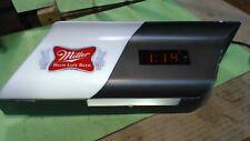 Vintage--1978-?-Miller High Life Beer-- Lighted Digital Bar Clock -working
