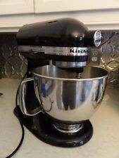 Working Black Kitchen Aid Artisan 4 QT Tilt-Head Stand Mixer KSM150PS0B no blade
