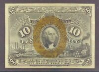 Fr. 1245 Second Issue $0.10 Fractional Currency Note, PMG Choice UNC-64.