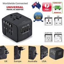 Universal International Travel Adapter 4 USB Power Plug Charger Converter Socket