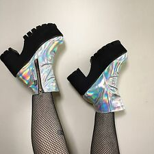 Holographic Hot!Mess Platform Boots Holo Booties RARE