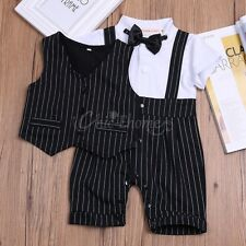 Kids Baby Boys Wedding Formal Tuxedo Suit Gentleman Outfits Romper Clothes 3-18
