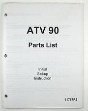 Manco ATV 90 Parts List Manual with Initial Set-Up Instruction 11767R3