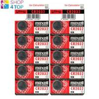 10 MAXELL CR2032 LITHIUM BATTERIES 3V COIN CELL BUTTON DL2032 EXP 2023 NEW