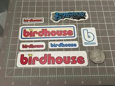 7 Vintage Birdhouse Skateboard Stickers Toy Logo Blue Red mini