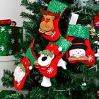 3Pcs Christmas Santa Claus Climbing On Rope Ladder Xmas Tree Hanging Home Decor