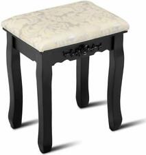 Vanity Stool Retro Makeup Dressing Bench with Solid Wood Legs Piano Seat 250lb