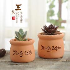 New listing Terracotta Zakka Planter Pot Succulent Flower Plants Pots Home Garden Decor