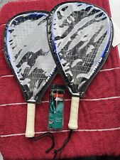 2 Ektelon Freak Power Level 1000 Racquetball Racquet- Blue- Pre-owned w/Case