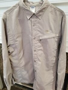 The North Face Mens Long Sleeve Button Up Vented Shirt Fishing Large