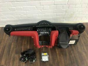 MINI COOPER F56 S JCW DASHBOARD RED BELTS PASSENGER SIDE AB MODULE HUD