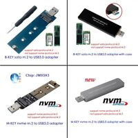 NGFF M.2 NVME SSD SATA SSD to USB3.0 adapter card reader test card Hard disk box