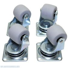 4 X Heavy Duty 30mm Rubber Swivel Castor Wheels Trolley Furniture Caster Bearing