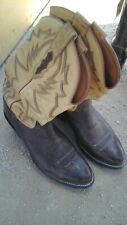 Lucchese 2000 Brown/Yellow Leather size 8 E Cowboy Boots  NICE!
