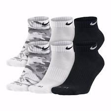 Nike Low Cut Socks Gray Camo Dri Fit L Size 10-13