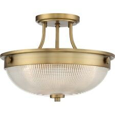 Quoizel 3 Light Fixture Semi-Flush Mount, Weathered Brass - QF3631WS