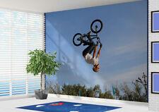 Bmx Rider doing backflip Wallpaper wall mural wall art (12886021) Extreme sports
