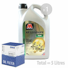 Engine Oil and Filter Service Kit 5 LITRES Millers Oils XF LONGLIFE 5w-40 5L
