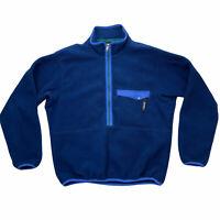 Patagonia Fleece Pullover Mens Medium Blue 1/2 Zip Vintage Retro Made in USA