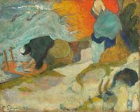 Washerwomen In Arles Paul Gauguin Fine Art Print on Canvas Giclee Reproduction S
