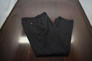 Brooks Brothers Dress Pants Regent 100% Wool Black Pleated Mens Size 33 x 31