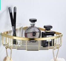 Brushed Gold Corner Shower Caddy Shower Basket Shelf for Shampoo, Conditioner