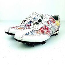 Footjoy LoPro Golf Shoes #97159 White Mosaic Lace Oxford Multi Colored Size 7