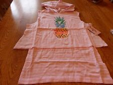 """NWT! """"JUICY COUTURE"""" GIRL'S PINK PINEAPPLE HOODY TOP SIZE M (10-12)  $32."""