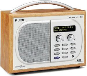 PURE TEMPUS 1S DAB/FM Digital Luxury Radio Tuner (Cherry) - Very Good Condition