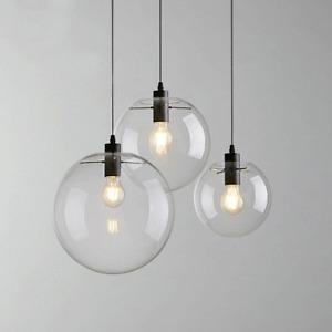 Modern Crystal Glass Ball Ceiling Light Pendant Lamp Kitchen Bar Chandelier