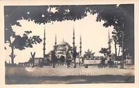ISTANBUL CONSTANTINOPLE TURKEY STREET VIEW BLUE MOSQUE~REAL PHOTO POSTCARD
