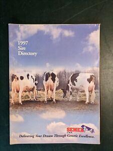 1997 SEMEX HOLSTEIN DAIRY CATTLE SIRE DIRECTORY - RAIDER - COUNSELOR - AEROSTAR