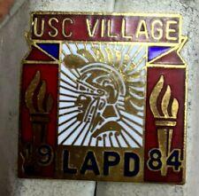 New listing Vintage 80s Enamel Pin Pinback Usc Village Lapd 1984 Olympics Trojans Logo