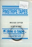 """Line O Tape 3/32"""" x 120"""" Pinstripe Masking Tapes Brushed Copper #PS27 #PS28"""