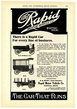 1908 Rapid Motor Vehicles Ad: Light Truck -The Car That Runs - Pontiac, Michigan
