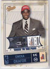 EMEKA OKAFOR 2004-05 Fleer Authentix #128 Balcony Platinum /75 Charlotte Bobcats