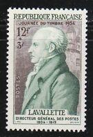 France 1954 MNH Mi 995 Sc B284 Count Antoine de La Vallette.Politician & general
