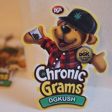 "pot leaf Weed Marijuana 420 Bear Chronic Grams 8x7cm 3"" Decal sticker #2125"