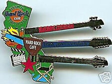 Hard Rock Cafe LOS ANGELES 2001 19th Anniversary PIN State Triple Neck Guitar