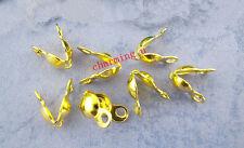 40pz coprinodo terminale 8x4mm nikel free colore oro