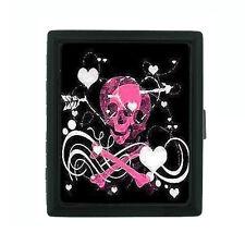 Metal Cigarette Case Holder Box Skull Design-010