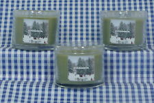 3 Bath & Body Works Evergreen 1.3 oz Mini Scented Candle