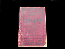 SCARCE FIREWORKS ILLUSTRATED CATALOGUE PRICE LIST BKLT 1908 BOSTON MASS