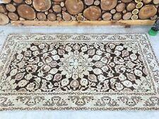 3'8''x6'5'' Antique Rug Carpet,Vintage Turkish Rug,Short Oushak Runner,Ushak Rug