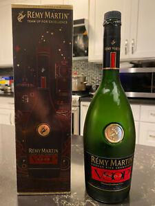 REMY MARTIN 750ml Bottle Fine Champagne Cognac V.S.O.P. Empty Bottle W/ Box