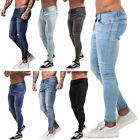 GINGTTO Mens Skinny Stretch Jeans Ripped Distressed Slim Fit Biker Denim Pants