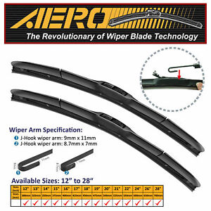 "AERO Hybrid 24"" + 20"" OEM Quality Windshield Wiper Blades (Set of 2)"