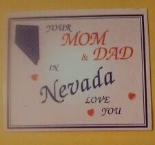 LAS VEGAS, NEVADA YOUR MOM & DAD IN NEVADA LOVE YOU REFRIGERATOR MAGNET!