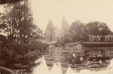 Manoir Vintage albumen print.  Tirage albuminé  11x16  Circa 1880