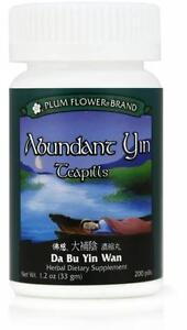 Plum Flower, Abundant Yin Teapills, Da Bu Yin Wan, 200 ct
